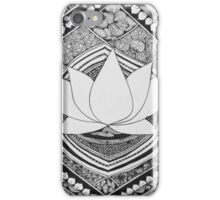 Lotus Pen and Ink Zentangle  iPhone Case/Skin