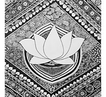 Lotus Pen and Ink Zentangle  Photographic Print