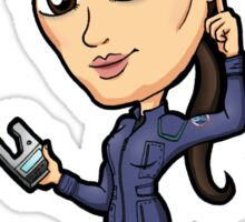 Star Trek Enterprise - Communications Officer Hoshi Sato with Universal Translator Sticker