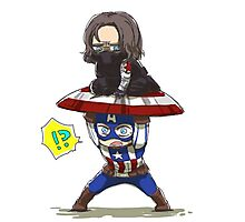 Bucky and Cap Photographic Print