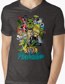 Pinballer Mens V-Neck T-Shirt