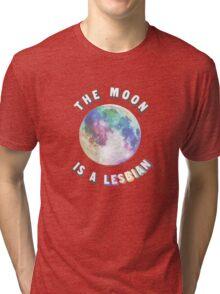The Moon is a Lesbian Tri-blend T-Shirt