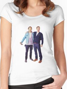 Chris Evans and Sebastian Stan Women's Fitted Scoop T-Shirt