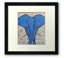 Blue Elephant Framed Print