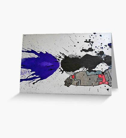 Ink Splatter Megatron Fusion Cannon  Greeting Card