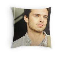 Sebastian Stan Looking Off In the Distance Throw Pillow