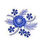 Blue Peony by SusanSanford