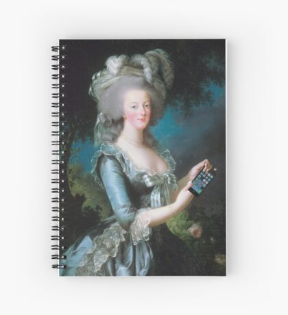 Marie Antoinette: call me on my new phone! Spiral Notebook