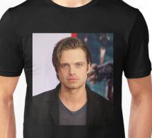 Sebastian Stan w/ Long Slicked-Back Hair Unisex T-Shirt