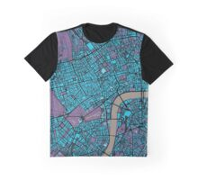 London city map twilight Graphic T-Shirt