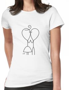 Stick Figure Couple Love Womens Fitted T-Shirt