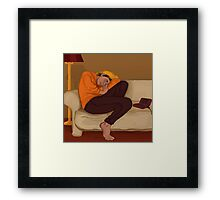 sleeping kenma Framed Print