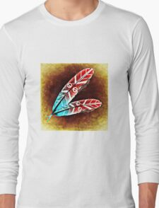 Colorful Feather Long Sleeve T-Shirt