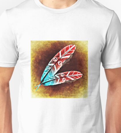 Colorful Feather Unisex T-Shirt