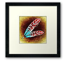 Colorful Feather Framed Print