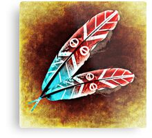 Colorful Feather Metal Print