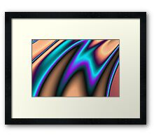 Abstract Fractal Colorways 03 Southwestern Framed Print