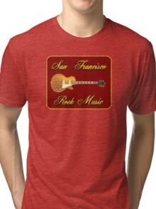 San Fransisco Rock Music Tri-blend T-Shirt