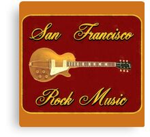 San Fransisco Rock Music Canvas Print