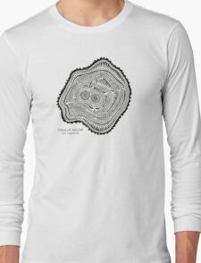 Peachleaf Willow – Black Ink Long Sleeve T-Shirt