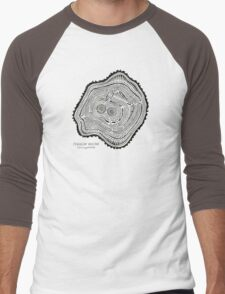 Peachleaf Willow – Black Ink Men's Baseball ¾ T-Shirt