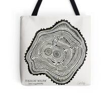 Peachleaf Willow – Black Ink Tote Bag