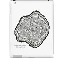 Peachleaf Willow – Black Ink iPad Case/Skin