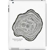 Peachleaf Willow – Black Ink iPad Case/Skin