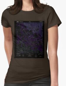 USGS TOPO Map Alabama AL Willow Springs 20110927 TM Inverted Womens Fitted T-Shirt