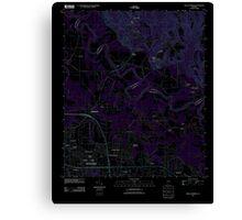 USGS TOPO Map Alabama AL Willow Springs 20110927 TM Inverted Canvas Print