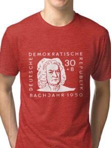 Johann Sebastian Bach (Bachjahr 1950) Tri-blend T-Shirt