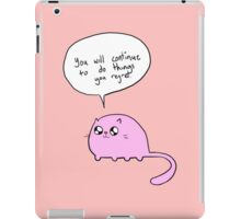 Depressing cat 2 iPad Case/Skin