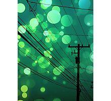 Power Lines graphic design Photographic Print
