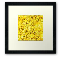 Yellow Abstract Design Framed Print