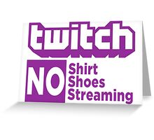 Twitch rules Greeting Card