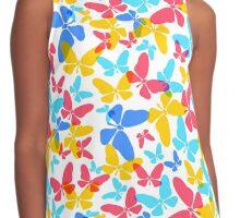 Butterflies pattern Contrast Tank