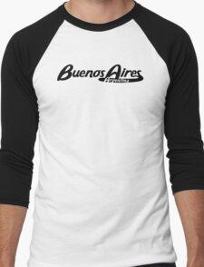 Buenos Aires Argentina Vintage Logo Men's Baseball ¾ T-Shirt