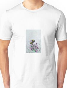 Bumble Bee and Flower Unisex T-Shirt