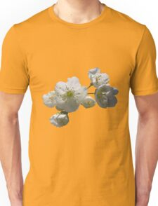 cherries in blosssom on buttercup yellow Unisex T-Shirt
