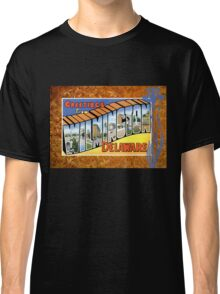 Vintage Wilmington Delaware Greeting Post Card Antique Classic T-Shirt