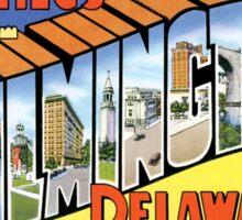 Vintage Wilmington Delaware Greeting Post Card Antique Sticker