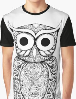 Patterned Owl Graphic T-Shirt