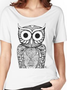 Patterned Owl Women's Relaxed Fit T-Shirt