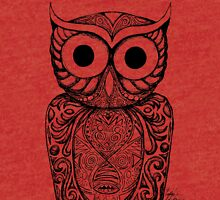 Patterned Owl Tri-blend T-Shirt