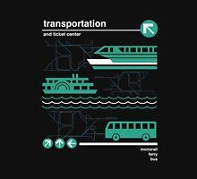 Monorail, Bus and Ferry Zipped Hoodie