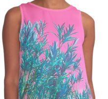 ViewsFromTheAether Plant on Pink Sky Contrast Tank