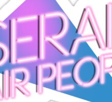 Miserable Hair People | Synthwave logo Sticker