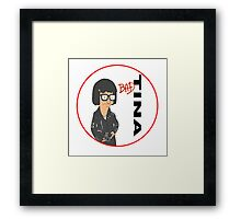 Tina Belcher: Bad (version two colour) Framed Print