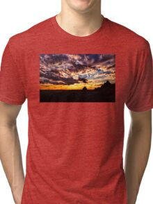 Sundown On the Badlands - Badlands National Park Tri-blend T-Shirt