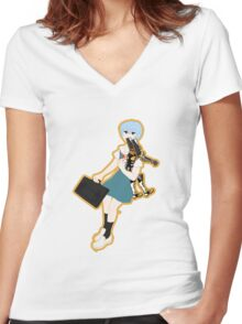 00 Rei Ayanami Women's Fitted V-Neck T-Shirt